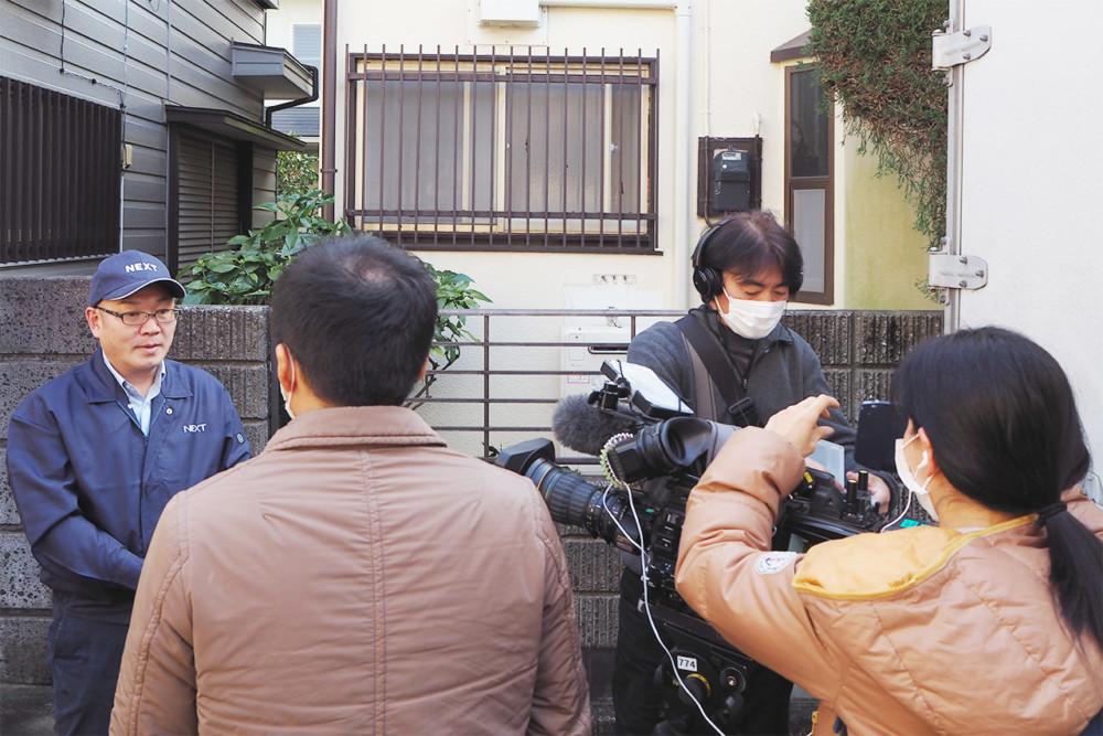 ネクスト代表の佐倉賢次郎が、NHK報道局の方々から、2020年3月1日(日)、遺品整理業界について取材を受けました。