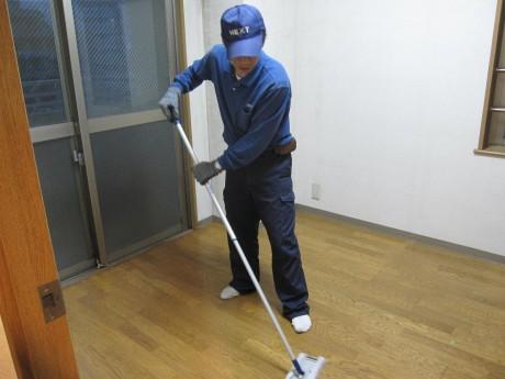 各部屋の床の清掃