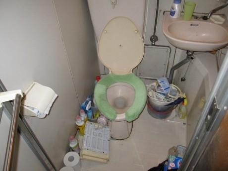 トイレの作業前